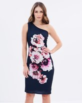 Wallis One Shoulder Placed Floral Dress
