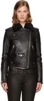 Mackage Black Leather Baya-dl Jacket