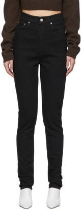 Helmut Lang Black Femme Hi Spikes Jeans
