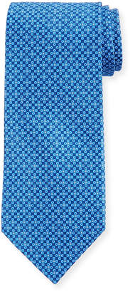 Stefano Ricci Small-Diamond Silk Tie