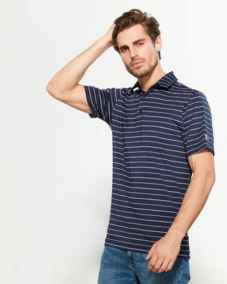 Under Armour Midnight Navy Performance Stripe Loose Fit Short Sleeve Polo