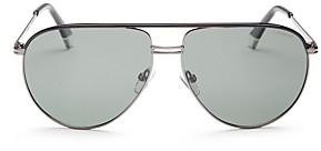 Polaroid Men's Brow Bar Aviator Sunglasses, 61mm