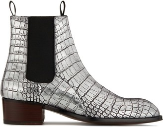 Giuseppe Zanotti Crocodile-Embossed Ankle Boots