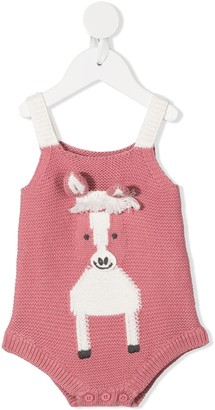 Stella McCartney Kids Knitted Horse Bodysuit