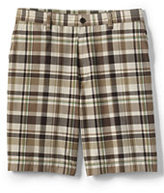 """Lands' End Men's Traditional Fit 9"""" Summer Casual Madras Shorts-Pale Sand Madras"""