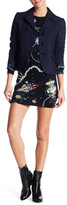 Love Moschino Space Jewels Patterned Wool dress