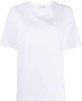 Etro embroidered patch cotton T-shirt