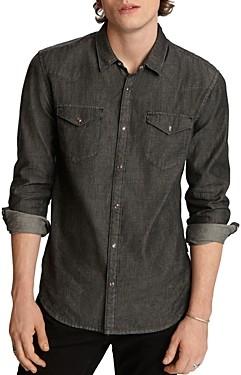 John Varvatos Clint Cotton Regular Fit Button-Down Western Shirt