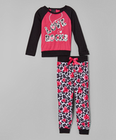 Dollhouse Fuchsia 'Love Rocks' Pajama Set - Kids