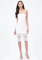 Bebe Lace Strapless Dress