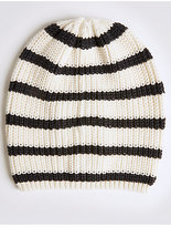 M&S Collection Striped Beanie Hat