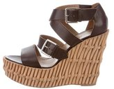 Hermes Platform Wedge Sandals