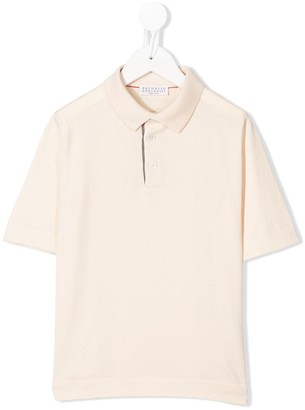 BRUNELLO CUCINELLI KIDS Short-Sleeved Polo Shirt