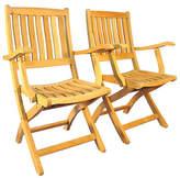 Regal Teak Teak Armchairs - Set of 2
