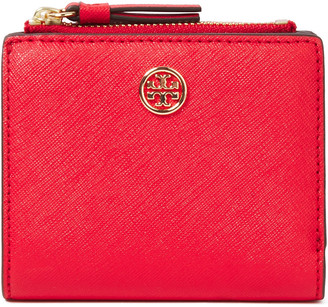 Tory Burch Logo-embellished Textured-leather Continental Wallet