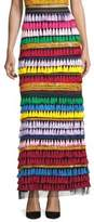 Alice + Olivia Merrill Embellished Rainbow Maxi Skirt