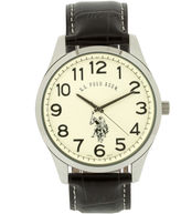 leather polo watches for men shopstyle u s polo assn uspa mens brown leather strap watch
