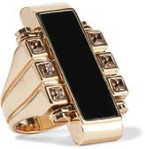 Lanvin Gold-tone, Swarovski Crystal And Resin Ring - 51