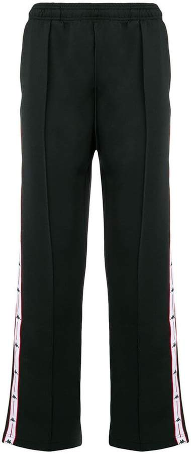 Kappa track logo trimmed trousers