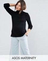 Asos Jumper With Roll Neck And Rib Detail