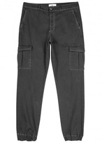 7 For All Mankind Grey Cotton Cargo Trousers