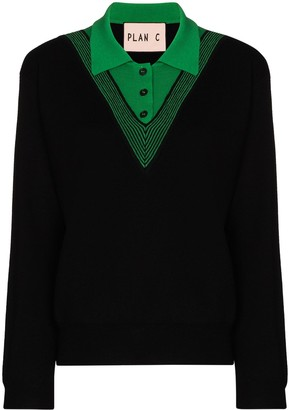 Plan C Filato wool polo jumper