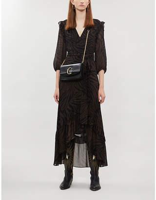 BA&SH Selina tiger-print crepe midi dress
