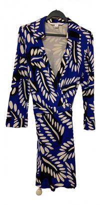 Diane von Furstenberg Blue Silk Shorts