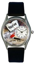 Whimsical Watches Women's S0450002 Mystery Lover Black Leather Watch