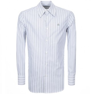 Vivienne Westwood Long Sleeved Striped Shirt White