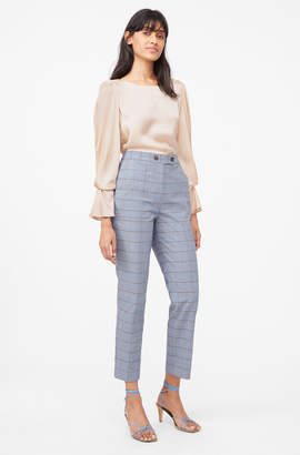 Rebecca Taylor Tailored Windowpane Twill Pant
