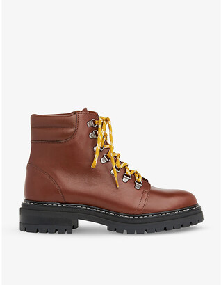 Whistles Amber lace up leather hiking boots
