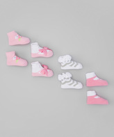 Baby Essentials Pink Floral & Mary Jane Socks Set