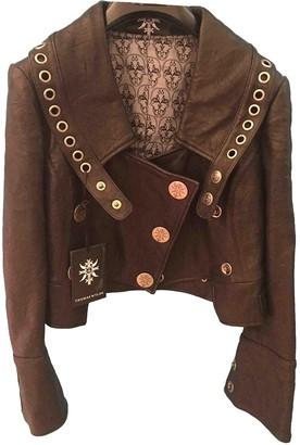 Thomas Wylde Black Leather Leather Jacket for Women