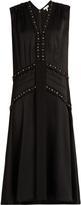 Rebecca Taylor Dropped-waist sleeveless crepe midi dress