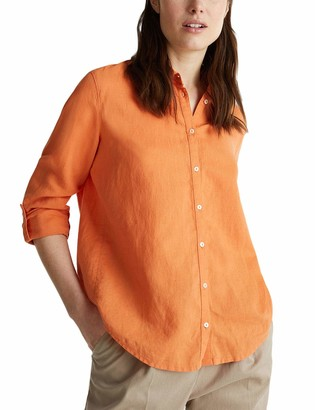 Esprit Women's Simply Styled Linen - Normal Fit - Brown - UK 12