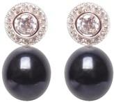 Ora Pearls Halo Black Pearl Earrings