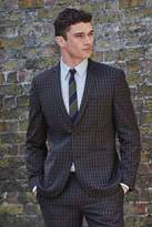 Mens Next Navy Gingham Tailored Fit Check Suit: Jacket - Blue