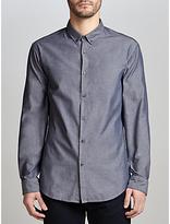 HUGO BOSS BOSS Green C-Baltero Slim Fit Melange Shirt, Navy