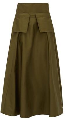 Carl Kapp - Cabana Cotton-sateen Midi Skirt - Khaki