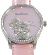 Maurice Lacroix MP7158-SD501-570 Limited Edition Square Wheel Pink Mother of Pearl Diamond Dial 43mm Watch