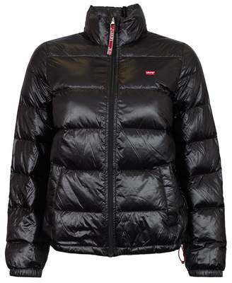 Levi's Francine Down Packable Jacket Colour: BLACK, Size: