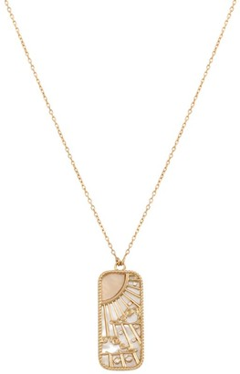 L'ATELIER NAWBAR Yellow Gold and Diamond Elements of Love Air Pendant Necklace