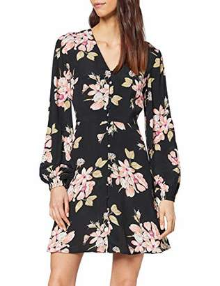 Warehouse Women's Sia Floral Button Front Mini Tea Dress Casual