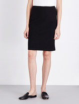 St. John Fitted wool-blend pencil skirt