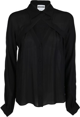 Moschino Black Silk Blouse