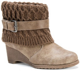 Muk Luks Deena Faux Fur Lined Wedge Boot