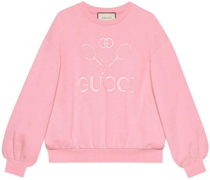 Gucci Oversize sweatshirt with Tennis