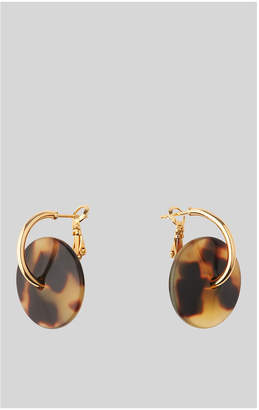 Whistles Tort Resin Wire Loop Earring