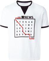 J.W.Anderson wordsearch T-shirt - men - Cotton - S